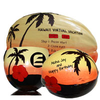 mail hand painted coconuts