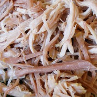 Kalua style meats: available in pork, chicken and turkey
