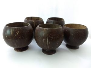 Real coconut cups for kava, beverages or decorate!