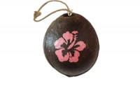 Painted Coconut Ornament #2939 with free USPS shipping - Product Image